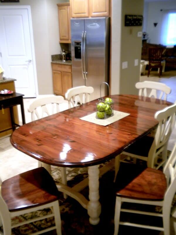 I love what this blogger did to her Craigslist find Dining Room Table Makeover. The reveal is amazing!