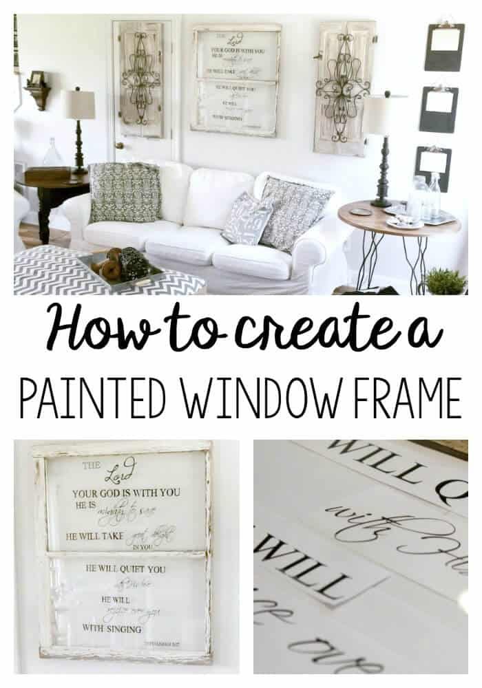 Painted Window Frame: The blogger transforms an ordinary window to something extraordinary with paint pens!