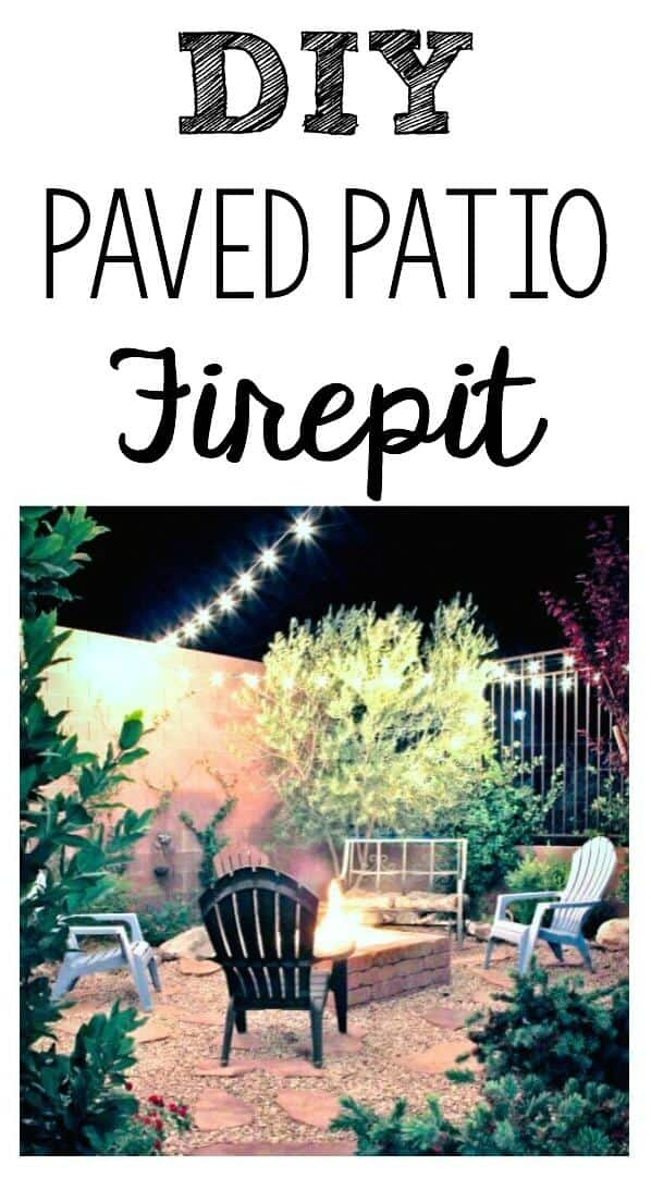 DIY Paved Patio Fire Pit: How we turned an ugly gravel pit into a backyard escape.