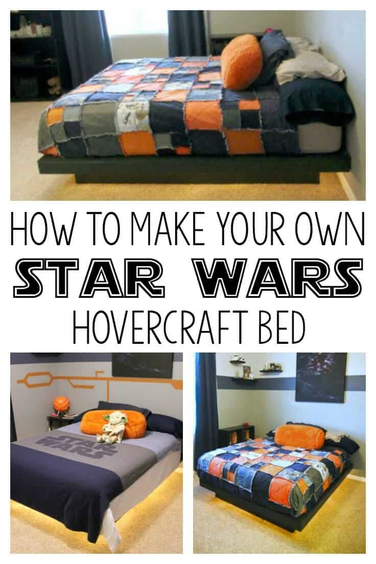Star wars room hovercraft bed. How to make your own Star wars Bed that looks like it's hovering! This is an awesome tutorial!