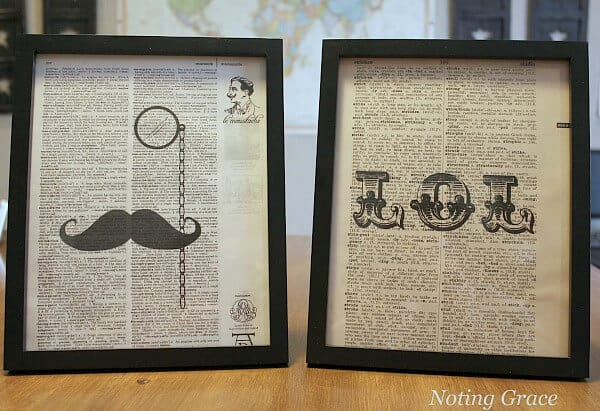 DIY Printed Dictionary Pages : a perfect custom gift! All it takes is an old dictionary, a printer and a design you want.