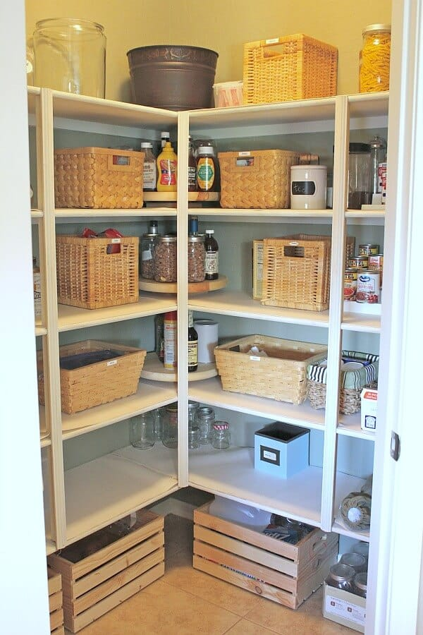 DIY Lazy Susans for your Pantry - how to make beautiful custom storage for your home
