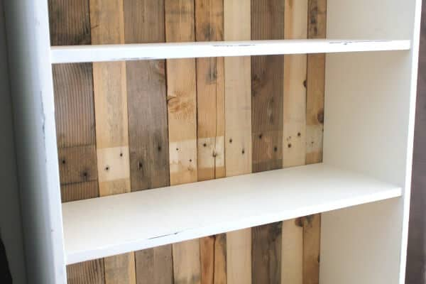 DIY Pallet Bookcase: How to add Pallet wood to a bookcase for a beautiful transformation!