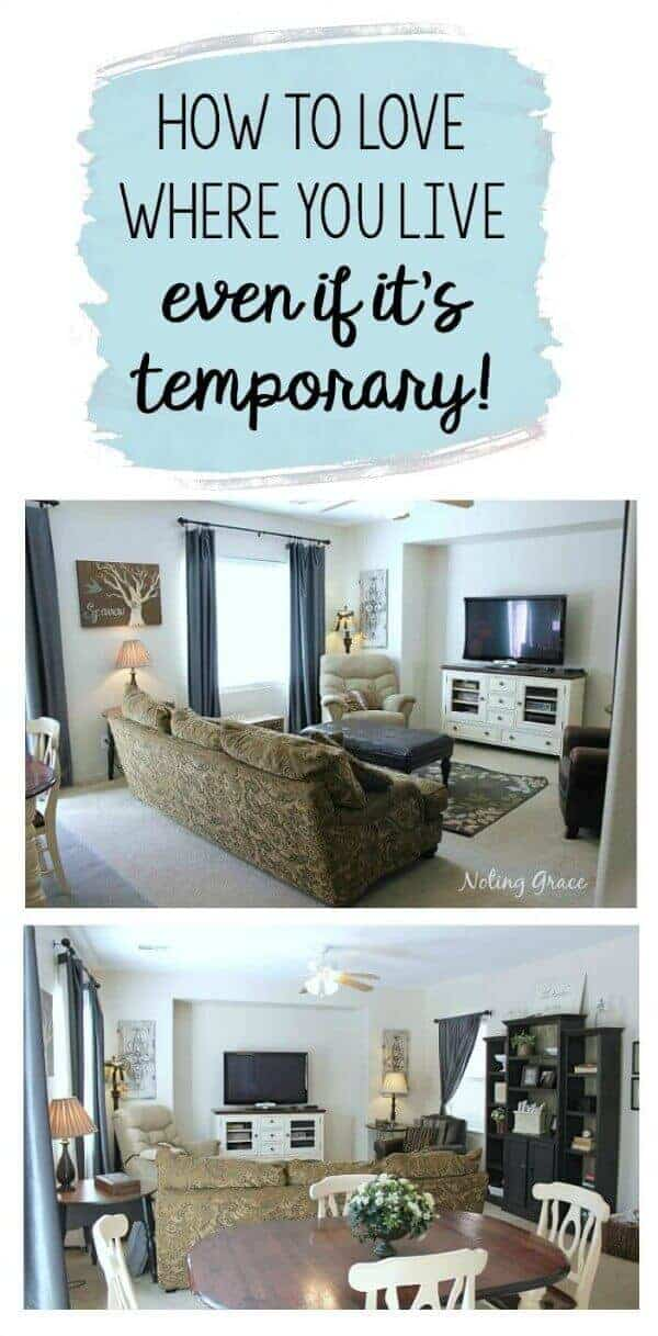How to love where you live, even if it's temporary! Decorating a rental tips!