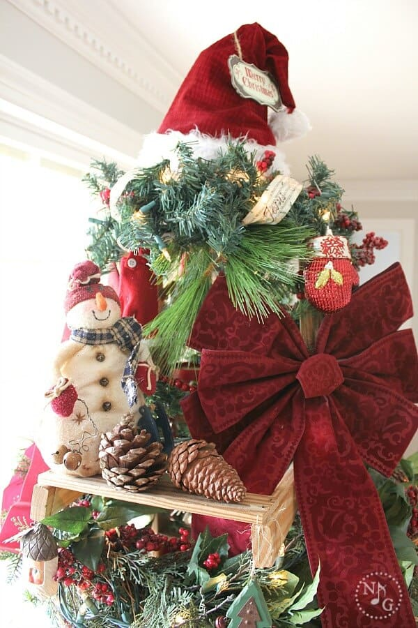 Budget Friendly Christmas Tree Ladder Noting Grace