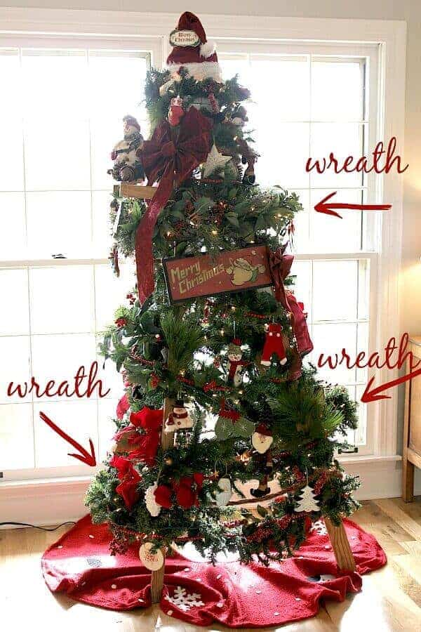 Budget Friendly Christmas Tree Ladder Noting Grace