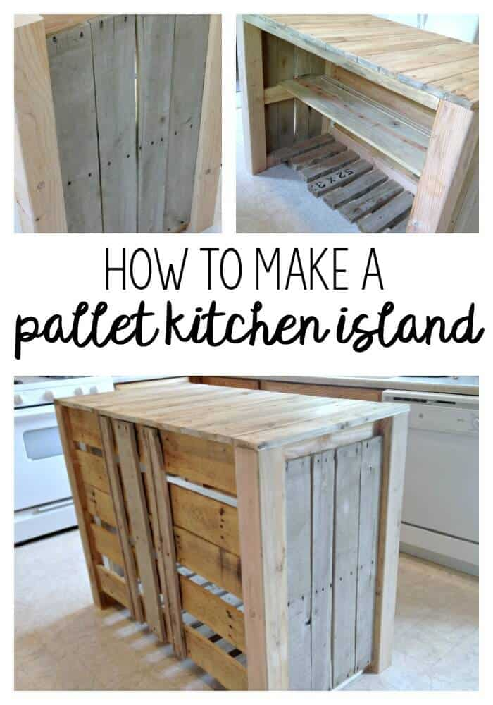 DIY Pallet Kitchen Island for less than $50! | Noting Grace