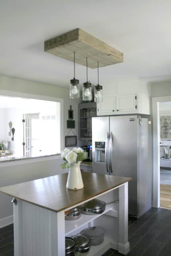 pallet kitchen light