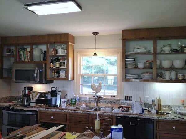 Farmhouse kitchen demo process
