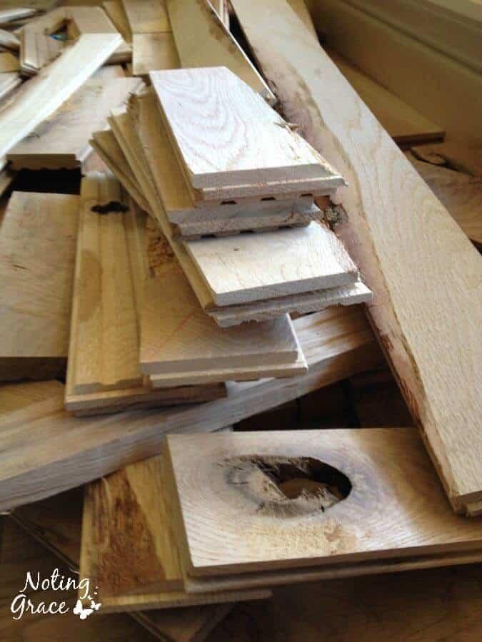 cabin grade flooring scraps