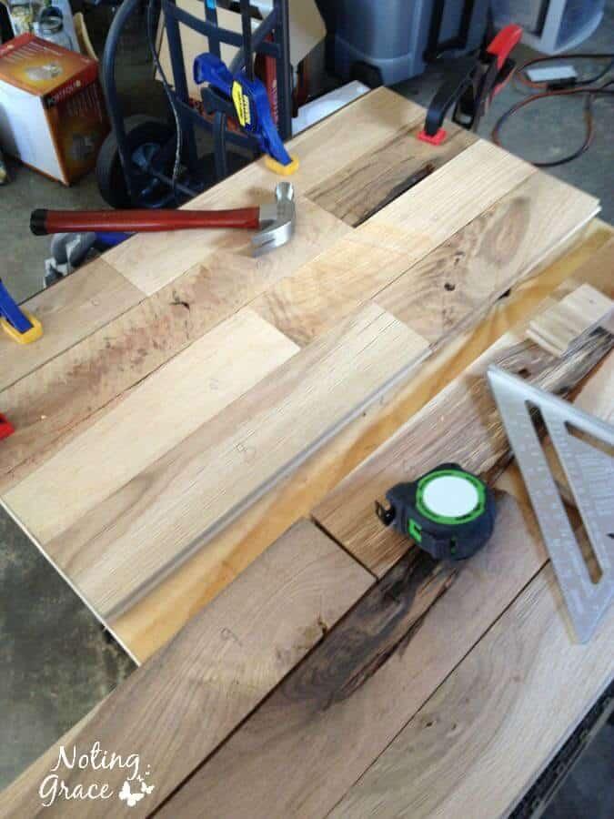 fitting scrap wood for custom countertop