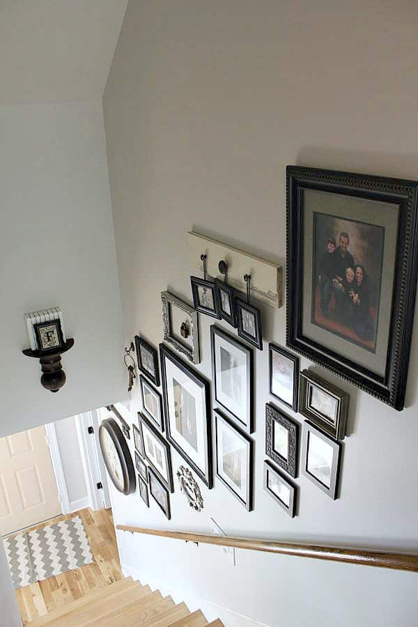 Creating a Stairway Gallery Wall to make a statement!