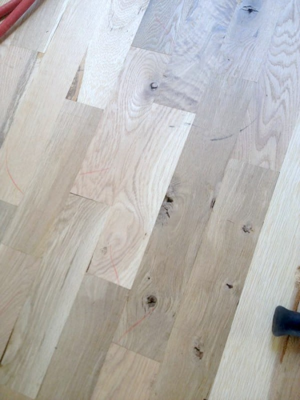 Affordable diy hardwood flooring how we saved thousands Unstained hardwood floors
