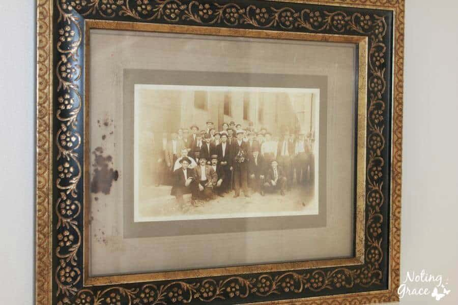 framed vintage heirloom photos