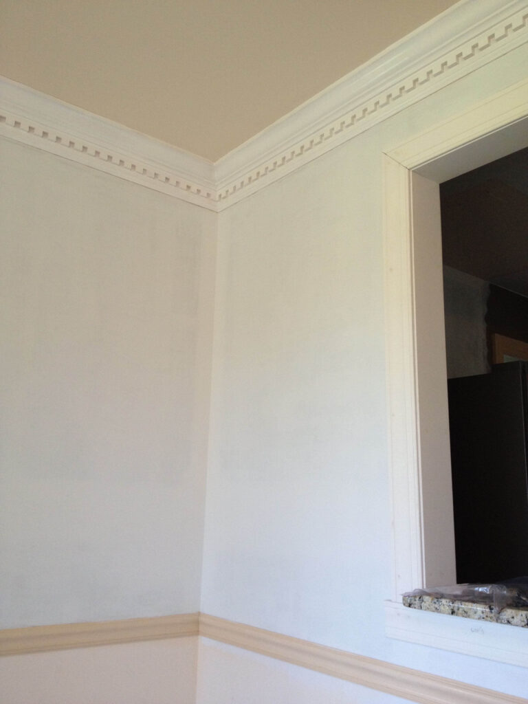 primed wall after wallpaper removal