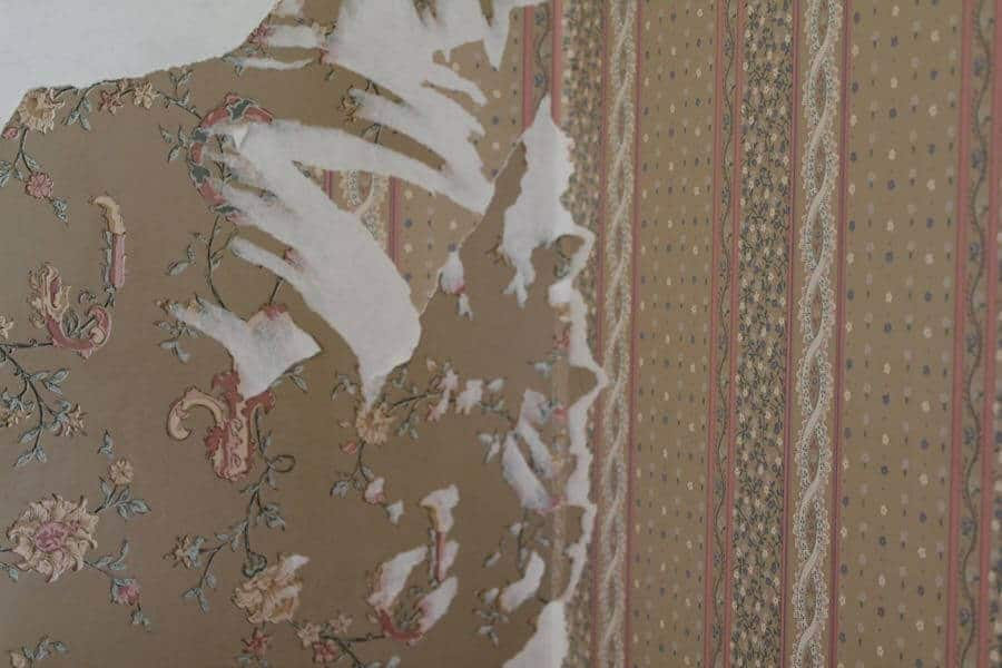 Wallpaper over wallpaper