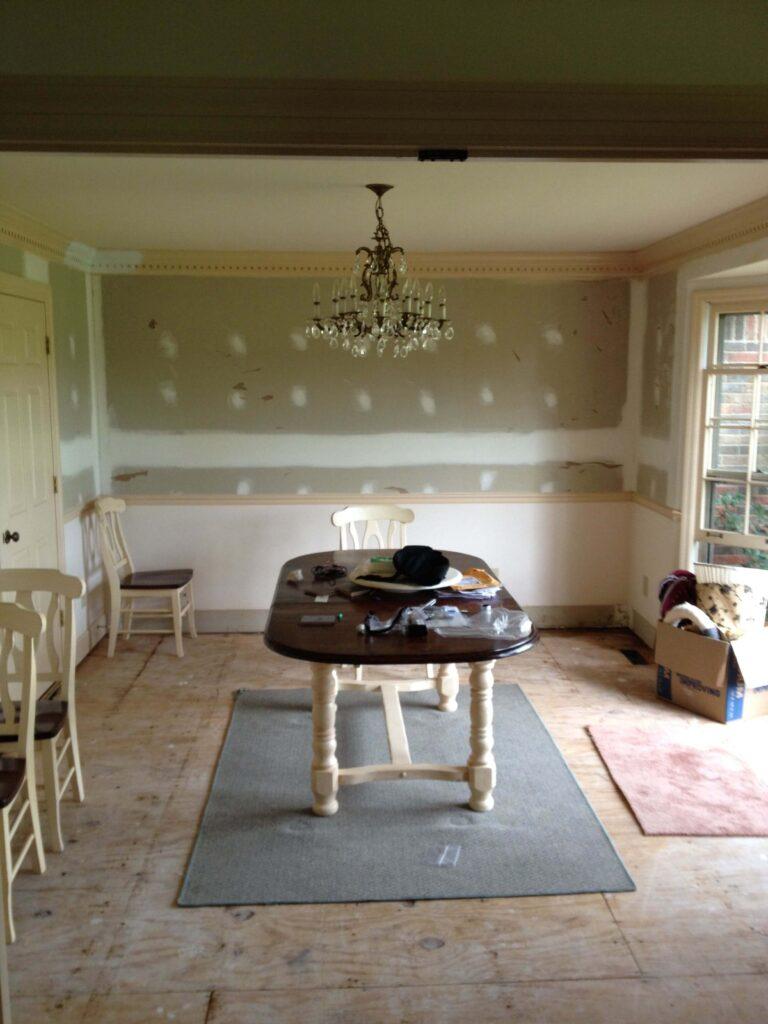 dining room makeover in progress