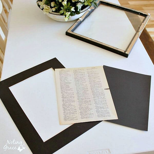DIY ArtMore Printed Dictionary Pages Noting Grace
