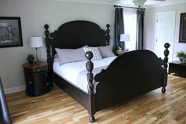 Master bedroom reveal, mixing masculine and feminine to create a room we both love
