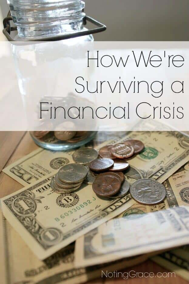 Surviving a Financial Crisis: When a financial crisis hits, what can you do to prepare for whats ahead. 5 great tips to help you get through the rough times.
