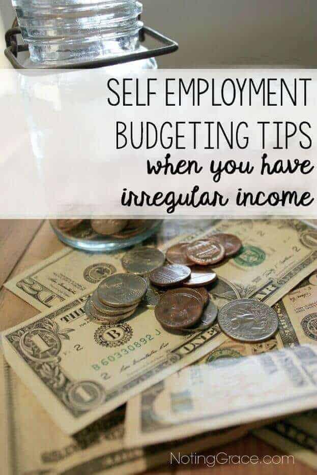 self employment budgeting with irregular income