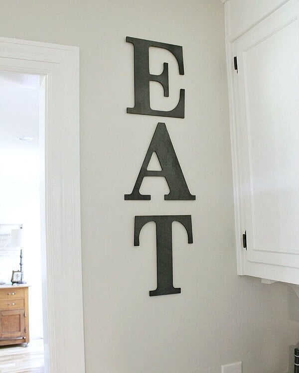 Diy Kitchen Sign For Less Than 10 Noting Grace