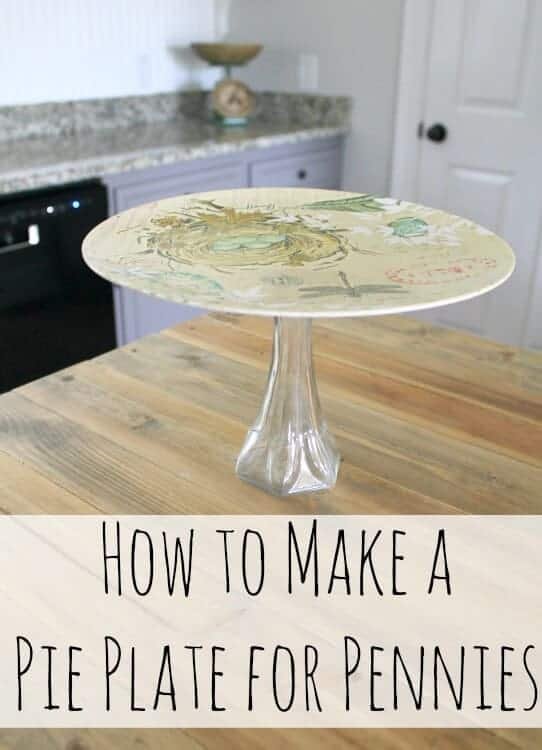 This Easy DIY Spring Pie Plate is an inexpensive and quick project you can do to create custom decor.