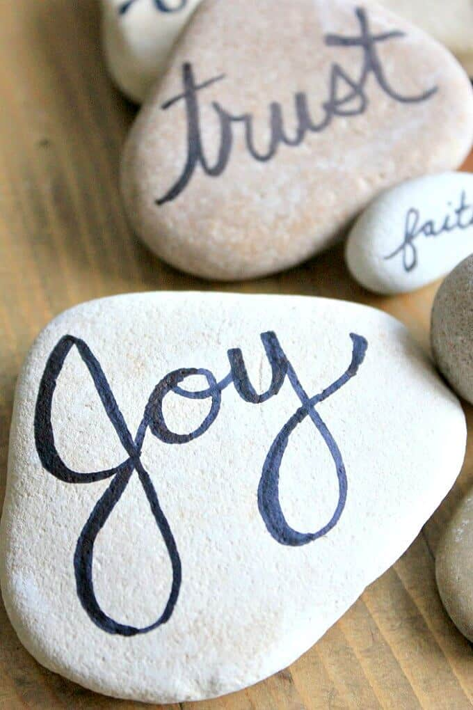 Written on Stone: Hand Lettered rocks that are easy to make and special ways to celebrate memorable moments.