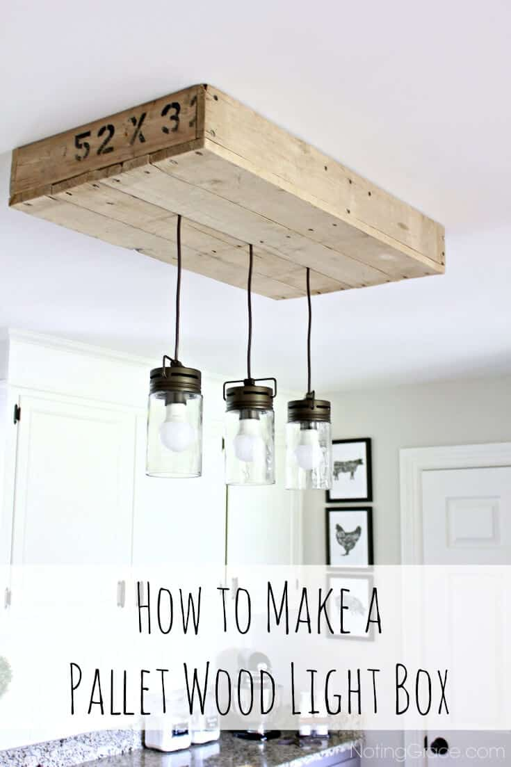 How to Build a Pallet Light Box for your Kitchen Island | Noting Grace