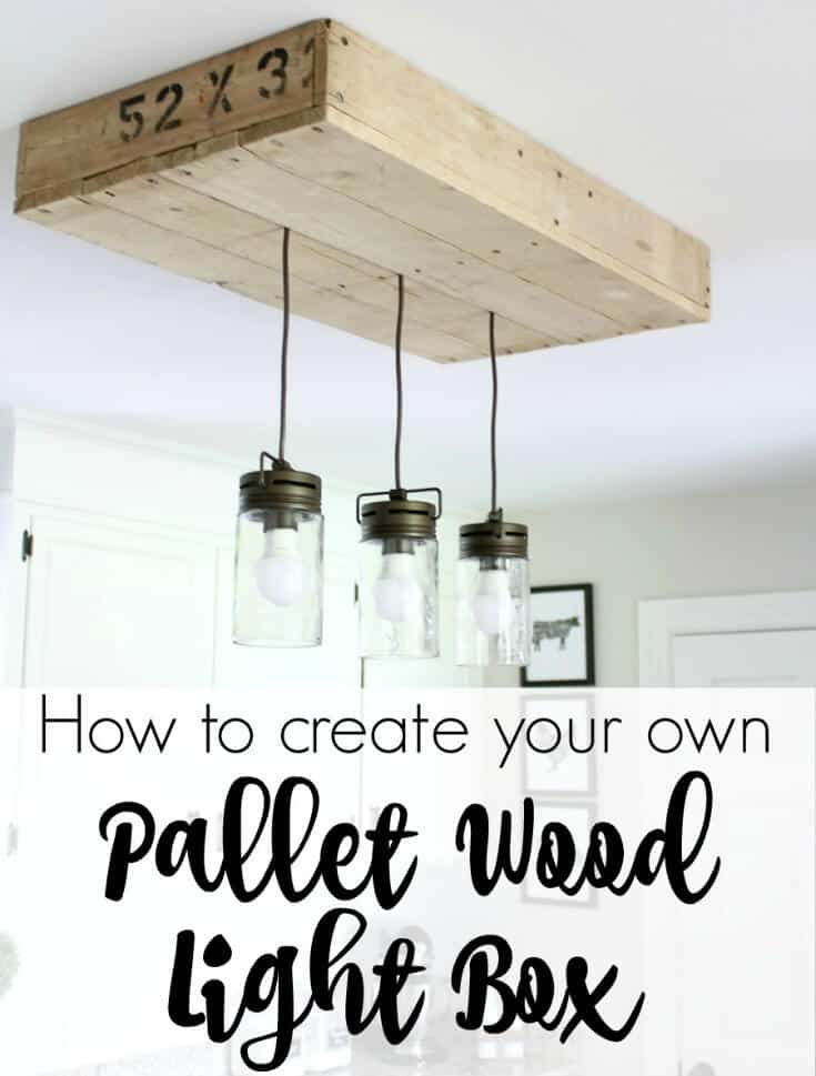 Pallet Wood Light Box: How to make a custom light box from Pallet wood. An affordable fix for lighting problems.