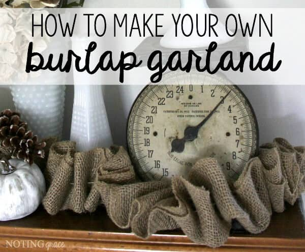 Burlap garland can be pricey! Here's how to make your own DIY Burlap Garland at a much more affordable price!
