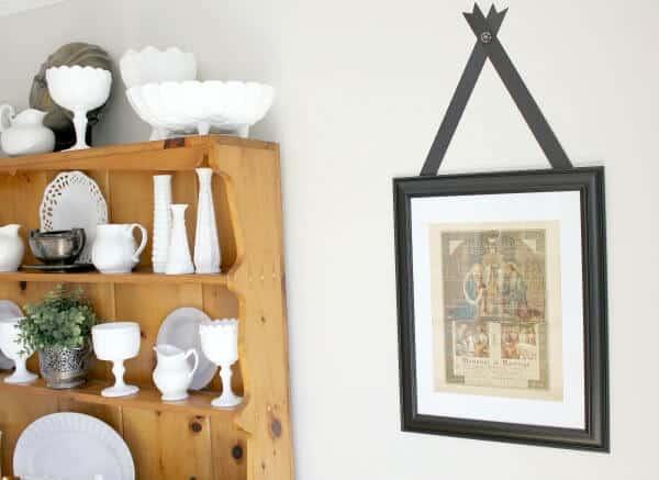 Vintage Wall Art adorning my dining room walls