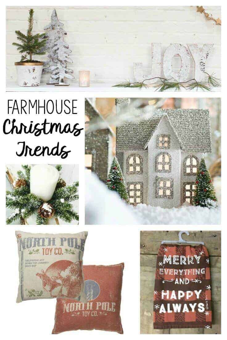 5 farmhouse christmas decorating trends that are hot right now - what they are and where to find them!