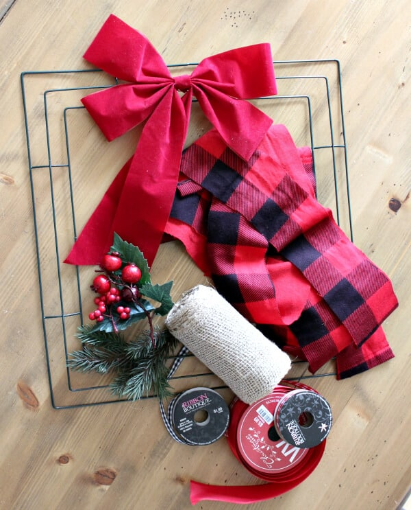 Buffalo Check Christmas Wreath.Easy Diy Buffalo Check Wreath For Only 10 Noting Grace