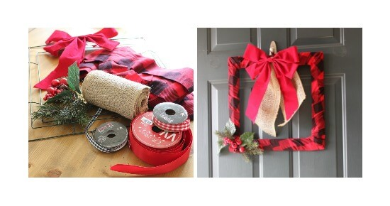 Make this easy DIY Buffalo Check Wreath for only $10! This is an awesome tutorial!