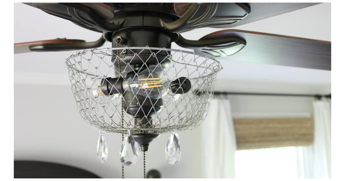 Diy Farmhouse Fan Making Over Your Ugly Fixture Noting Grace