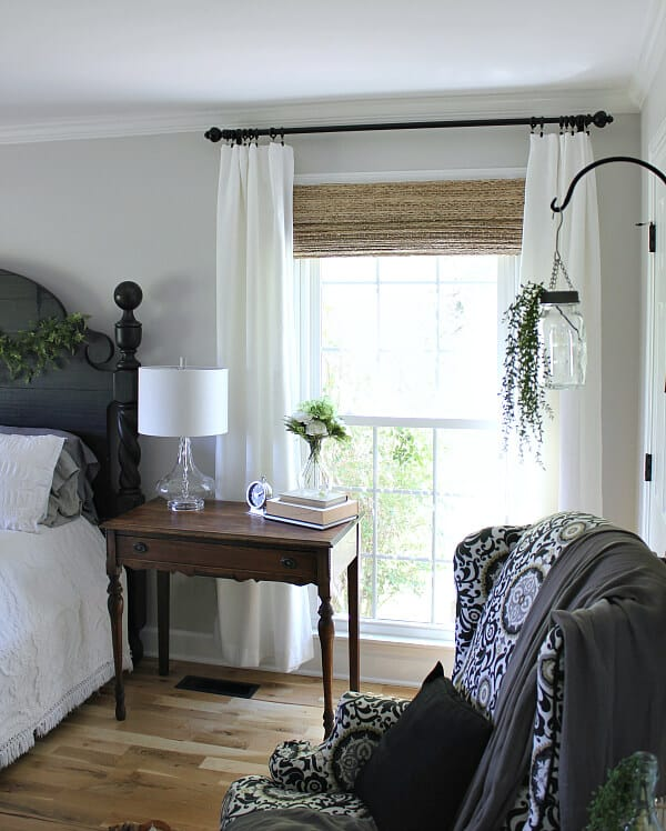 Jen from Noting Grace shares her Master Bedroom reveal for the One room challenge and how they added a second closet to their bedroom.