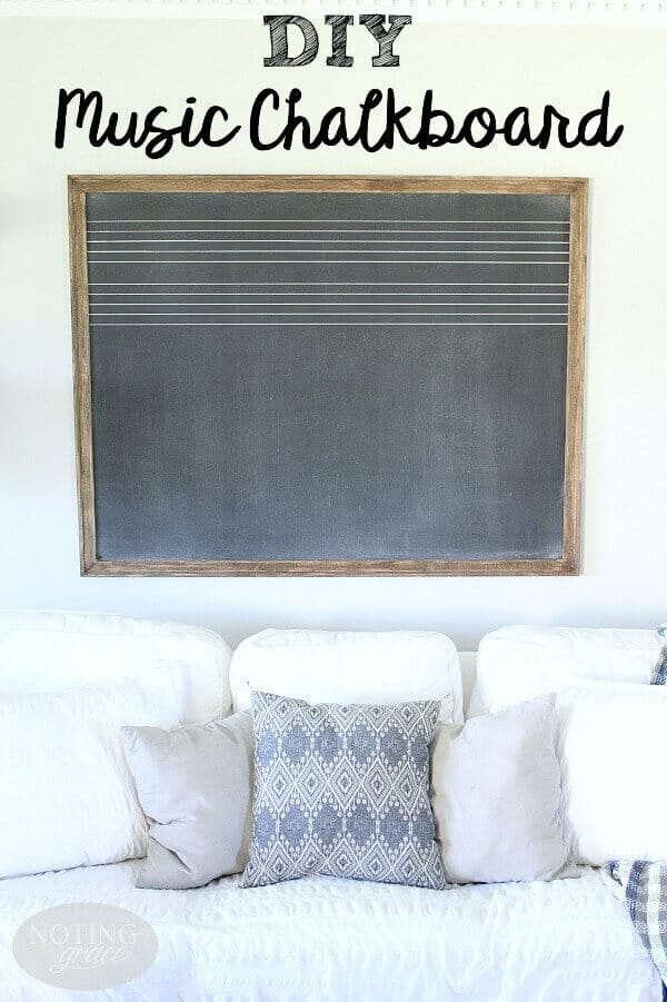 After being inspired by a vintage find from Fixer Upper, and unsuccessful attempt at finding one, I decided to make a DIY Music chalkboard. Here's the tutorial!