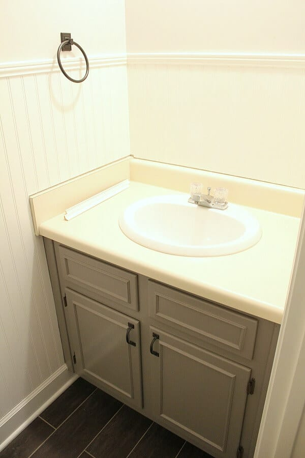 Vintage Farmhouse Powder Room - how we are making over our 80s fixer into a vintage inspired half bath