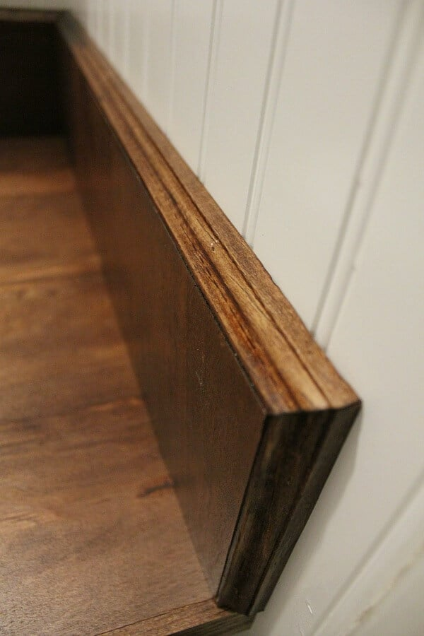 DIY wood Bathroom Countertop: how we replaced our ugly formica countertops in one weekend
