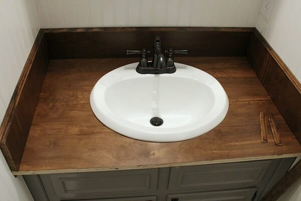 Charmant DIY Wood Bathroom Countertop: How We Replaced Our Ugly Formica Countertops  In One Weekend