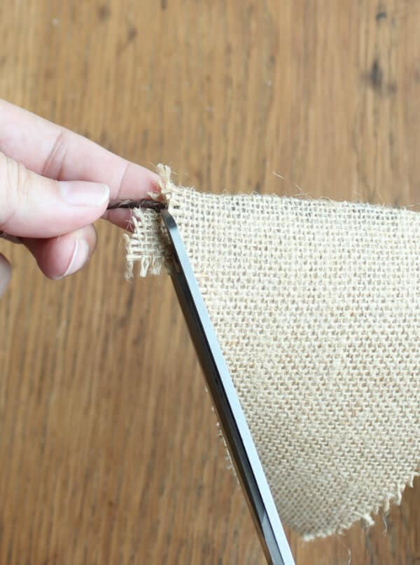 Easy Fall Bunting Tutorial: Trim the excess from the edges