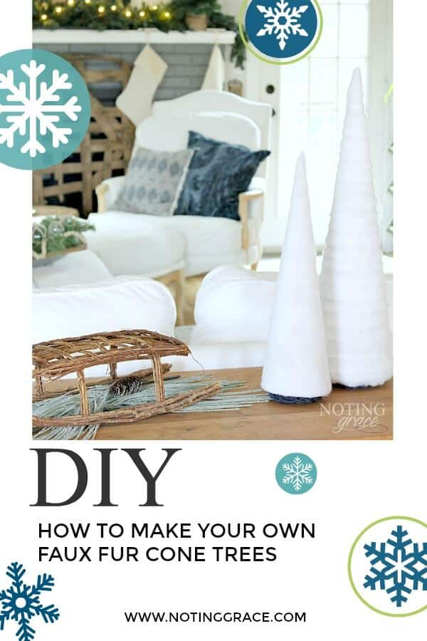 Handmade Fur Cone Tree- a quick and easy Holiday DIY you can complete in just minutes! #ChristmasDIY