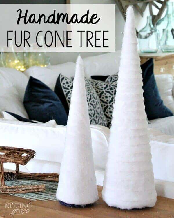 I DIYed That: Handmade Fur Cone Tree