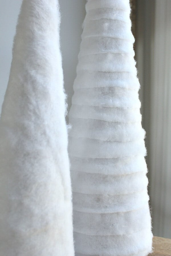 Budget friendly Christmas Decor: try this easy Handmade Fur Cone Tree!