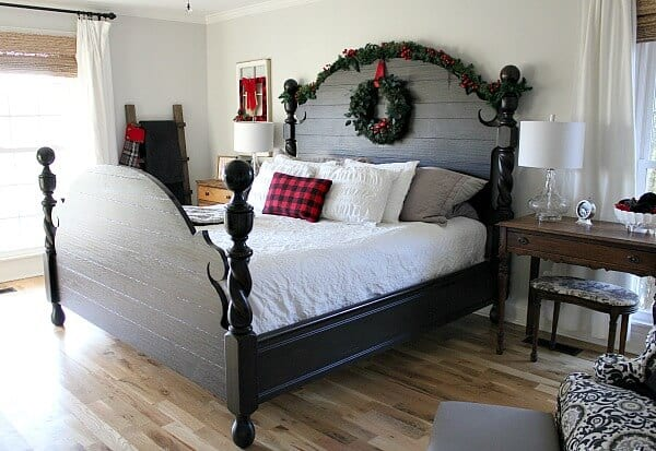buffalo check inspired christmas bedroom noting grace. Black Bedroom Furniture Sets. Home Design Ideas