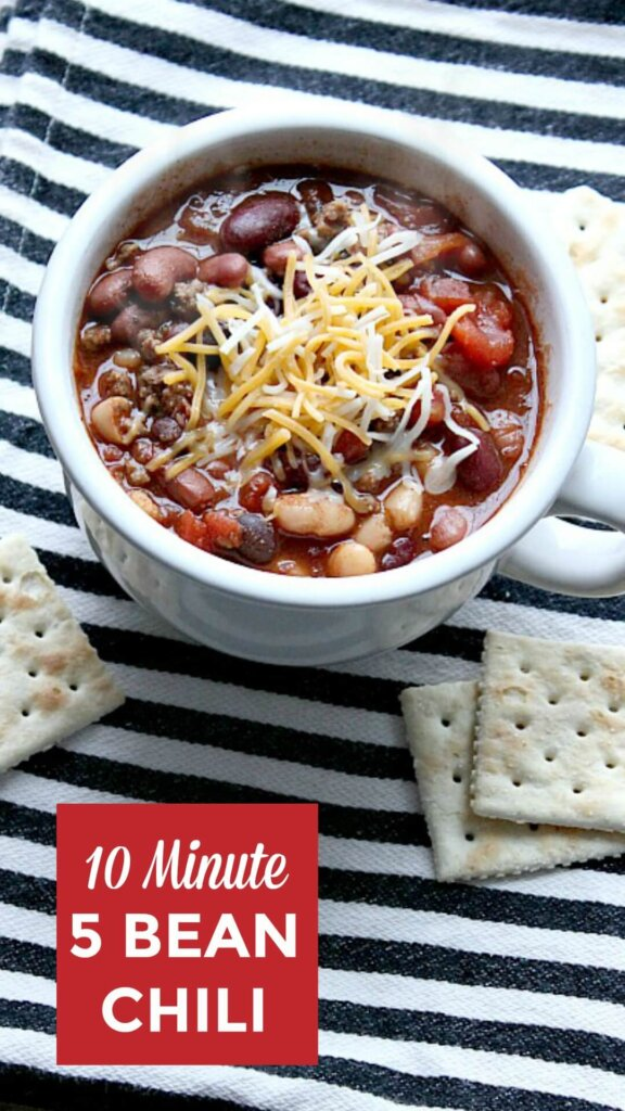 Super Simple 10 Minute Five Bean Chili