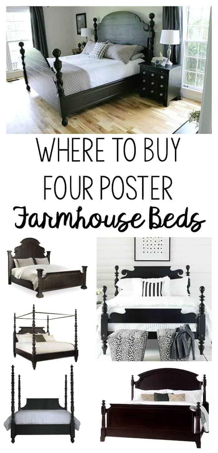 The most common question I get asked is where I bought my bed. Today, I'm sharing where you can find beautiful Four Poster Farmhouse Beds online!