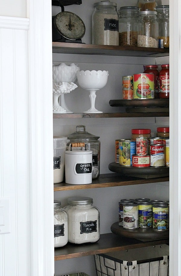 We gave our kitchen an update with this Farmhouse Pantry Makeover