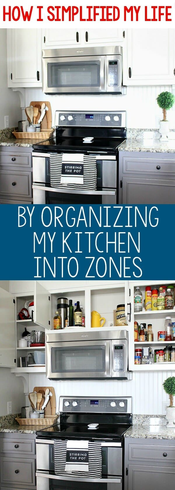 How I\'ve Simplified My Life by Organizing My Kitchen Into Zones ...